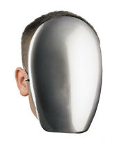 Faceless Chrome Mask Creepy No Face Horror Spooky Cobra Commander Adult Costume