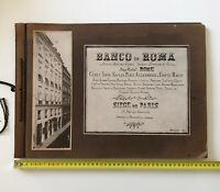 1902 - Rare Banco di Roma brochure  Siege de Paris - 9 pictures in silver print