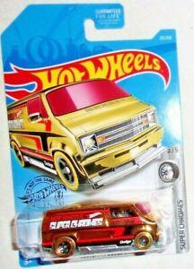 Hot Wheels Custom '77 Dodge Van #023 HW Super Chromes #4 of #5 Gold VHTF!!