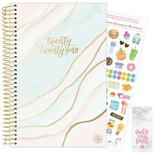 2021 Ethereal Marble Calendar Year Daily Planner Agenda 12 Month Jan - Dec