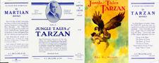 Edgar Rice Burroughs JUNGLE TALES OF TARZAN facsimile jacket - 1st edition