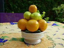 COUPE A FRUITS EN CERAMIQUE CENTRE DE TABLE EN TROMPE L'OEIL