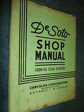 1937 DeSOTO SHOP MANUAL / GOOD ORIGINAL MOPAR De SOTO S3 SERVICE BOOK