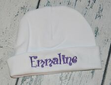 PERSONALIZED Newborn Hat Monogram Custom Font & Color Newborn Girl Boy Beanie