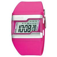 Lorus R2387EX9 Frauen-Resin-Armband LCD-Anzeige Wochentag und Datum Digitaluhr -