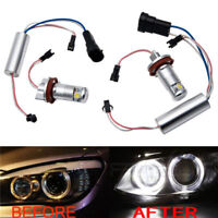 BMW E92 E93 M3 E90 E82 E60 E70 E71 LED Angel Eye Halo Ring Light H8 Bulb Canbus#