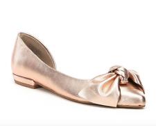 Steve Madden Women's Edina Metallic Leather Bow Detail Flats Sz 8M 4729