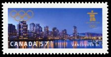 Canada  # 2368i   VANCOUVER WINTER OLYMPICS     New 2010  Die Cut Issue