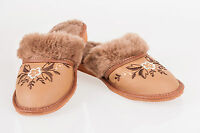 Women`s/Ladies Winter Slippers 100% Natural Leather&Sheepwool size:UK3,4,5,6,7,8