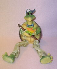 Turtle With Yellow Fish * Shelf Sitter * 8 Inch Long * So Cute * New *