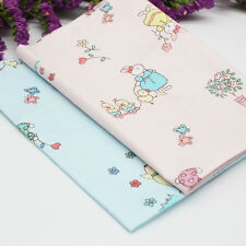 2pcs Cotton Fabric Sewing Textiles Baby Clothes Cloth Bags Patchwork DIY Crafts