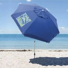 *NEW* 2020 TOMMY BAHAMA Blue Beach Umbrella With Carry Bag 8 Ft