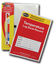 Fridge Thermometer & Temperature Log Book - Ideal for catering business 22/496/2