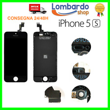 SCHERMO DISPLAY IPHONE 5S NERO PER APPLE TOUCH SCREEN LCD RETINA VETRO GREY 5 S