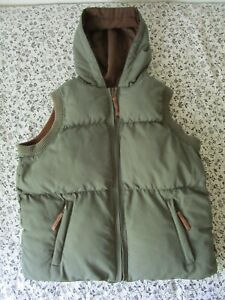 alpha industries puffer vest reversible Youth Large (missing hood faux fur)