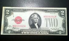 1928 C $2 Dollar Bill Red Seal Uncirculated Note