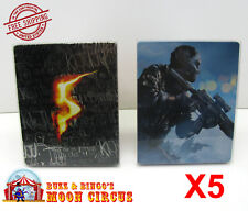 5x SONY PS3 CIB GAME BLU-RAY STEELBOOK G2 - CLEAR PROTECTIVE BOX PROTECTOR CASE