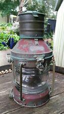 Vintage Anchor oil lamp Nautical Maritime