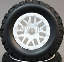 RC Short Course 1/10 OFF-ROAD WHEELS TIRES Package 3MM Offset  *SET OF 4*  WHITE