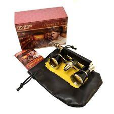 HQRP Theater Opera Glasses 3X25 Optics Black / Gold Binoculars with Handle