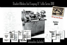 """Standard Modern Tool Company 11"""" Lathe Series 2000 Owners User Service Manual"""