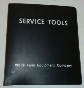 White Farm Equipment 3-Ring Service Tools Manual Catalog Binder (empty) oliver