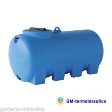 Serbatoio Acqua Cisterna in Polietilene Cilindrico Giurgola 1500 Lt Orizzontale