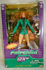 "FAIRCHILD GEN13 FULLY POSEABLE 11"" ACTION FIGURE W/CHROMIUM COMIC BOOK"