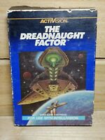 Mattel Intellivision The Dreadnaught Factor Activision Boxed Video Game Complete