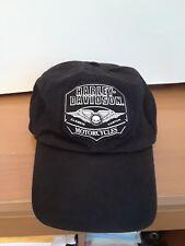 BLACK-HARLEY DAVIDSON-RACING--Adjustable-Fit--BASEBALL-HAT-CAP