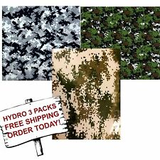 Hydrographic Film Water Transfer Printing Film Hydro Dip Digital Camo 3 Pack