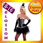 5119 Burlesque Pink Can Can Dancer Showgirl Corset Tutu Costume