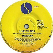 "Madonna ""Live To Tell"" 1986 SIRE Oz 7"" 45rpm"