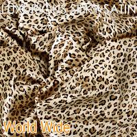 2xLuxury Silky Soft Satin Standard Pillow Case Cushion Covers 48x73cm - Leopard