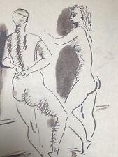 Dessin Original Encre NICOLAS WACKER (1897-1987) Etudes  de Nus NW1