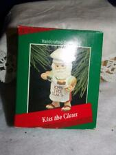Hallmark 1988 Kiss The Clause Santa Chef Cook Ornament grill grilling