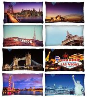 Luxury Digital Printed City Themed Cushion Covers (30cm x 50cm) New York, London