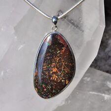 Opal Anhänger, 925er Silber, Edelsteinanhänger (11321), Boulder Opal