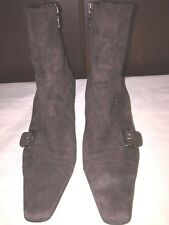 PRADA Brown Suede Ankle Zip Boots Sz  Euro 37.5 / US 6.5 - 7
