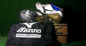 Mizuno boots Wave Ignitus II – WHITE  BLACK  GOLD