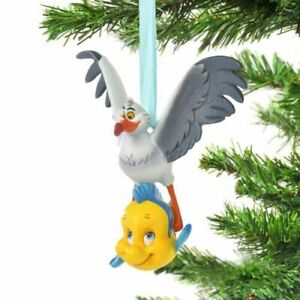 Disney Scuttle and Flounder The Little Mermaid Christmas Tree Hanging Ornament