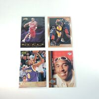 Lot of 4 Kobe Bryant Basketball Cards 1996-98 Topps Upper Deck RC Lakers Magics