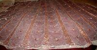 Antépendium devant d' autel tulle brodé paillettes d'argent époque XIXe