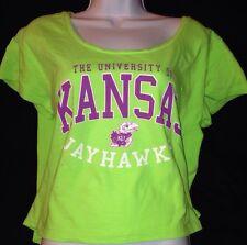 U-TRAU The University Of Kansas Jayhawks Women's Shirt Open-neck Size Med.