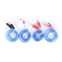 LED charger luminescent visible flow smart charger sync cable for android pho md