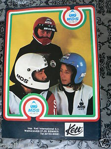 A154- MDS HELMETS 1979 KETT ADVERTISEMENT ADD MOTORCYCLE