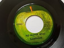 """BADFINGER NO MATTER WHAT / CARRY ON TILL TOMORROW  USA APPLE 7"""" Beatles"""