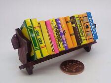 1:12 Scale Book Shelf Rack & Individual Books Dolls House Miniature Accessory
