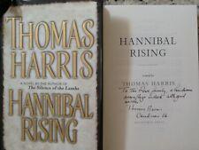 Thomas Harris Signed Hannibal Rising 1St 2006 Hc/Dj Silence of the Lambs Author