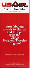 US AIR System Timetable Schedule dated Sept.7, 1988.
